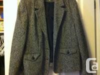 """Jessica Sport"" tweed jacket, black/grey/white, black"