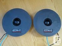 Two Vifa D25TG-08 6Ω dome tweeters for sale. Featuring