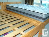 2 pine slat twin beds for $ 160 each Top of the line
