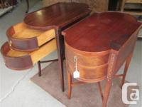THESE MATCHING ENDTABLES WERE MADE BY DEILCRAFT OF