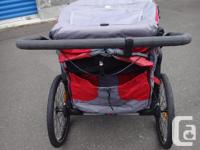Twin Stroller- Baby Jogger Pod Twin Stroller with Thule