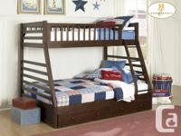 Stacked Twin Bed over Double Bed    You can also get