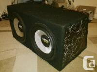 """hey there. im selling my two 12"""" Clarion subwoofers"""