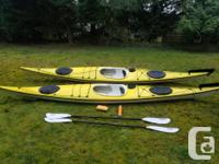 I am listing my pair of 17' Kajsk fiberglass Ocean