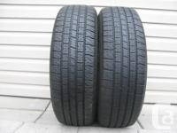 TWO (2) MOTORMASTER SE2 TIRES SIZES /215/70/15/ ALL