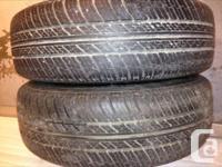 Two near new 215/60R17 Michelin MX4 all season tires on