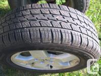 Two all season tires TURBO-TECH 215/70/16 on aluminum