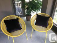 Two, all-weather, Papasan chairs - Excellent, Like New