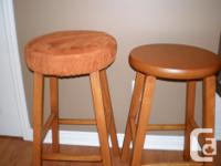 """Hardwood 24"""" high. Stained and varathaned. Includes two"""