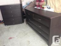 These are wood dressers One is 6-drawer dresser