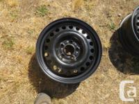 "Two Ford Focus Rims- Black - 16"" - $60 obo- Appear to"