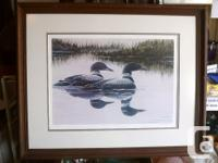 For sale are two framed and matted numbered prints as
