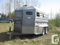 1999 Norbert 2 horse angle load trailer for sale. This