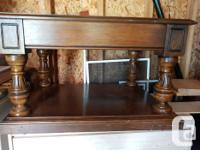 Two level end table with drawer - $40. Solid wood and