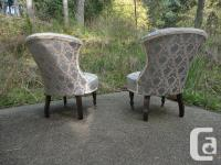 Two antique parlour chairs in excellent condition.