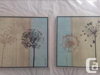 I have two pretty art pieces for sale. They can be hung