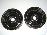 "I have 2 steel wheels (15"" x 6.5"" wide) in pretty good"
