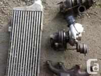 two TD04HL turbochargers with crossflow intercooler.