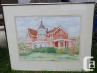 Two Watercolours by Jaqueline Burke one is of Holy