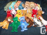 20 different beanie babies for 25 dollars. Included in