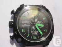 U-BOAT Chrono Black Left side controls. Economy size--