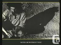 U2 With Or Without You, 45 solitary in photo sleeve,