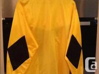 Yellow long-sleeved UMBRO Soccer goalie jersey. Padded