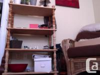 -Cute unfinished bookshelf as you can see in the
