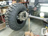 front and rear UNIMOG/ FORD  hybrid axles. center