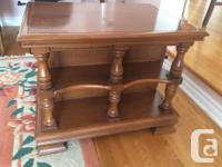Heavy, solidly build tables. $30each or $55 for both.