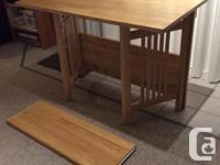 Used, Solid maple Desk/Table that folds up for easy storage. for sale  British Columbia