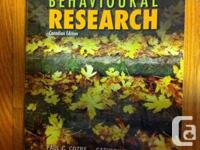 Selling:  1.) Behavioural research Canadian Ed for PSYC