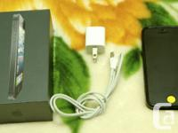 Unlocked iPhone 5 32gb Black. Includes: Lightning
