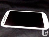 I am selling my white Samsung Galaxy S3:  -Unlocked to