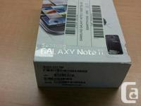 Almost brand new in box UNLOCKED 16gb Samsung Note II