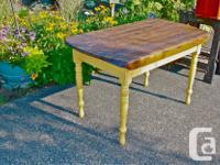 Unique Antique Country Table on painted base...Restored
