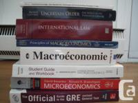 Selling the following University of Ottawa textbooks: