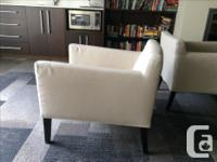 """4 upholstered living room chairs, 27"""" w x 30"""" deep."""