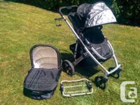 Uppa Baby Vista Stroller, Bassinette, Peg Perego Car