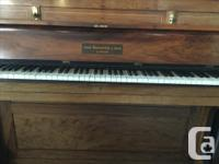 Hi, we're selling our 1930s upright piano with bench.