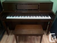 Mahogany upright Kawai piano. Excellent disorder.