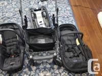 Urbini Omni Plus 3 In 1 Travel System Black Baby Infant