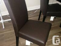 4 Brand new chairs for sale bought from leons