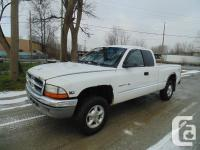 2000 DODGE DAKOTA EXTENDED CAB 4X4 AUTOMATIC AIR
