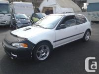 1992 Honda Civic Si 2 door Hatchback. 5 gear manual
