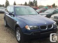 Calgary Pre-owned Car Sales 2004 BMW X3 3.0i AWD SUPERB