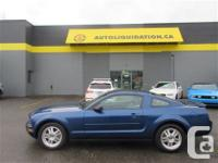 2007 FORD MUSTANG V6 COUPE ...THIS LOCAL BC UNIT WITH