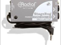 Radial SB-5 Stage Bug Stereo DI Box for Laptops with