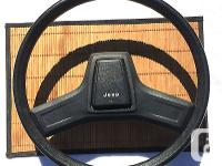 1989 Jeep Cherokee Black two Spoke Steering Wheel