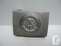 Vintage - DDR East German Silver-tone Metal Belt Buckle